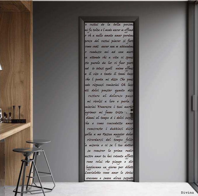"Telaio in alluminio ""Classic Luman"" Anta singola battente, con profilo in alluminio Mod.Divina_Collezione IMPRESSION ""Classic Luman"" aluminum frame Single hinged door, with perimetrical aluminum profile Mod.Divina_IMPRESSION Collection di #MRartdesign"
