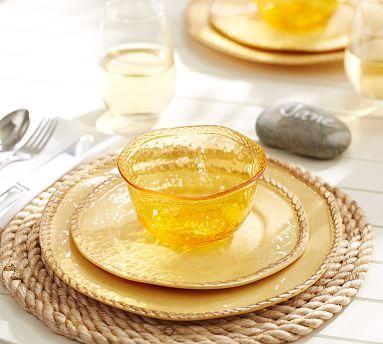 Rope Outdoor Dinnerware, Yellow #potterybarn