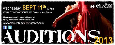 Momentum Dance Toronto – Company Auditions | TorontoDance.com