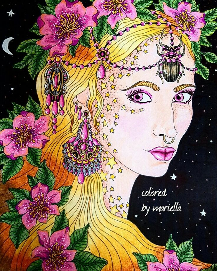 #hannakarlzon  #summernights #prismacolor #sharpie #coloring #coloringbook #thenetherlands colored by mariella