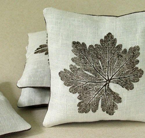 Природный декор подушек