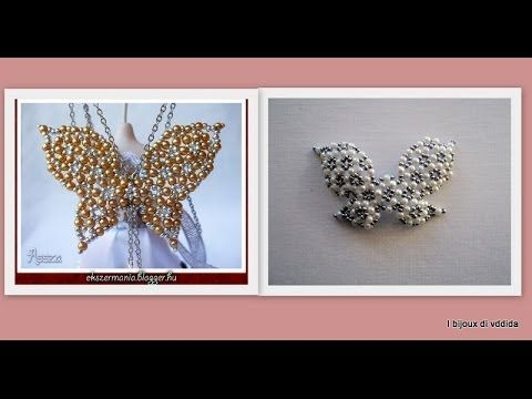 DIY Tutorial Farfalla Sole: anello di cristalli e perline prima parte - YouTube