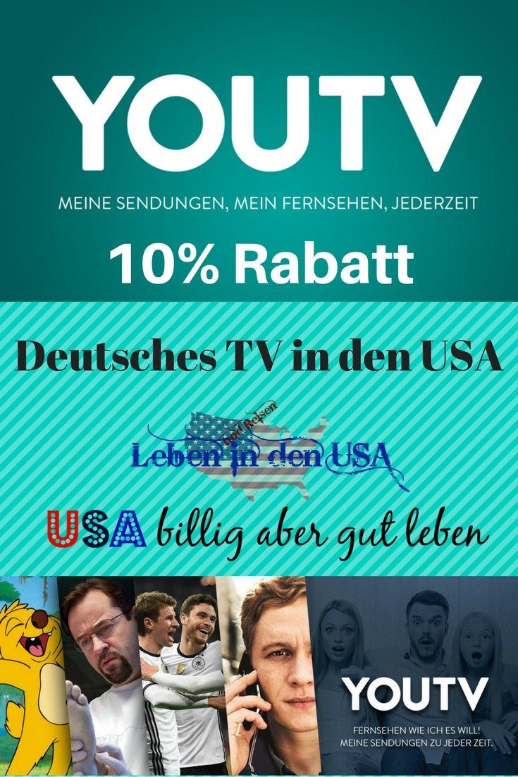 Deutsches Fernsehen in den USA mit 10% Rabatt. http://usabilligabergutleben.blogspot.com/2017/02/youtv-rabatt.html ...