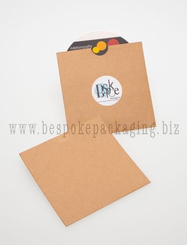 CD Pockets, perfect presentation for your customers.  We can add a custom seal or letterpress logo for you.  Email info@bespokepackaging.biz for more info or see our website www.bespokepackaging.biz