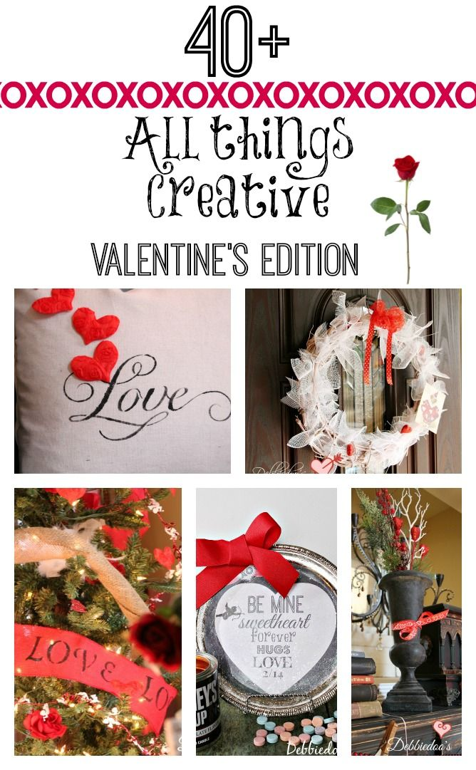 #allthingscreative #Valentine decor, #crafts, #recipes, #printables and more.