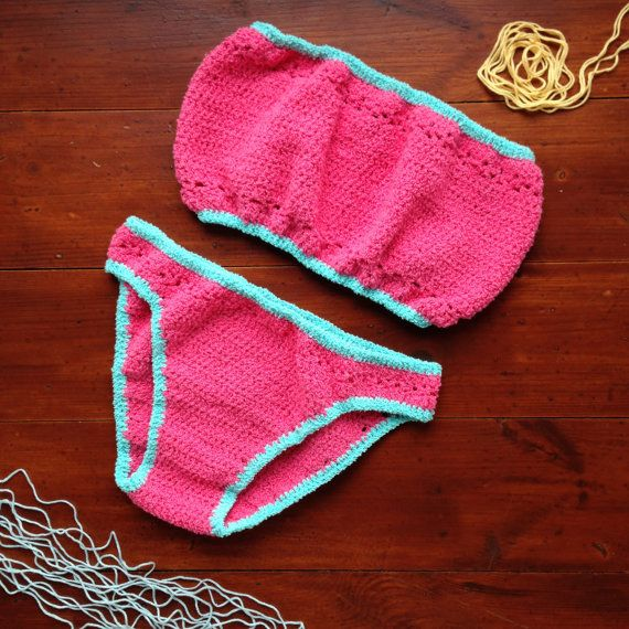 Crocheted bikini bandeau от ruscrew на Etsy