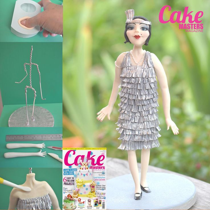 In the September issue of Cake Masters Magazine, Award winning Rhu Strand uses Face Base Moulds available from The Cake Decorating Company, to create this amazing flapper girl tutorial! Get your copy at: http://www.cakemasters.co.uk/shop/