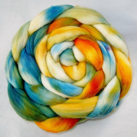 Alpine+Meadow+Signature+Color+Way%3B+4+oz.+Hand+Dyed+Fiber+for+Spinning%2C+Felting+%26+Fiber+Art+Work