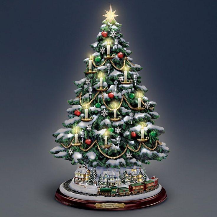 Thomas Kinkade Candlelit Tabletop Tree with Lights