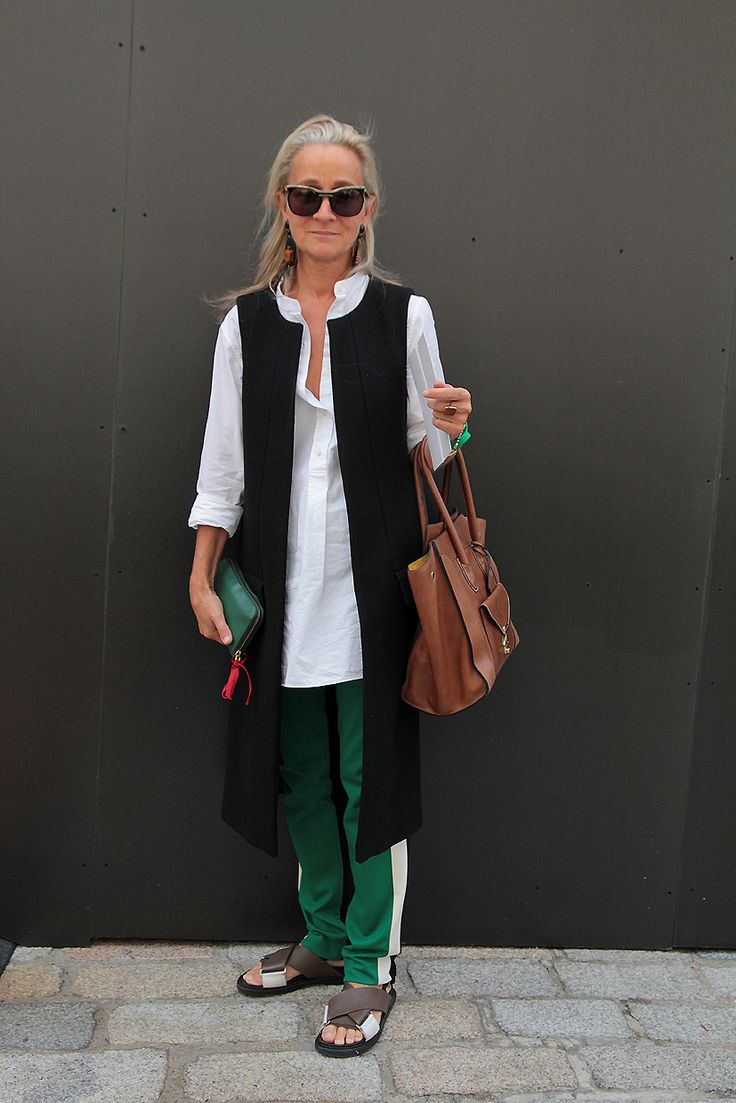 Lucinda Chambers looking stylish