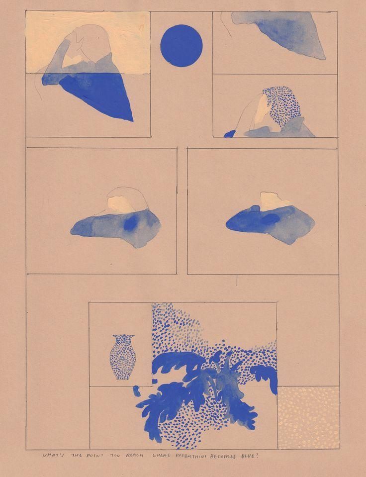 Aidan Koch's 'Blue Period' Comic Perfectly Illustrates Depression