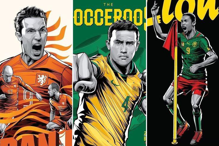 Upeat World Cup julisteet - katso suosikkijoukkueesi visuaalinen ilme