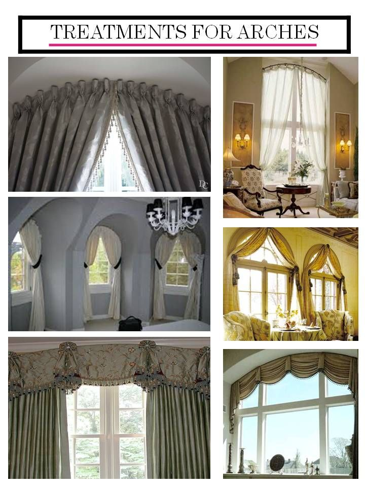 Window Treatments For Arches Curtains Pinterest