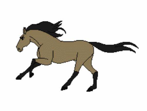 Конь анимашка картинка