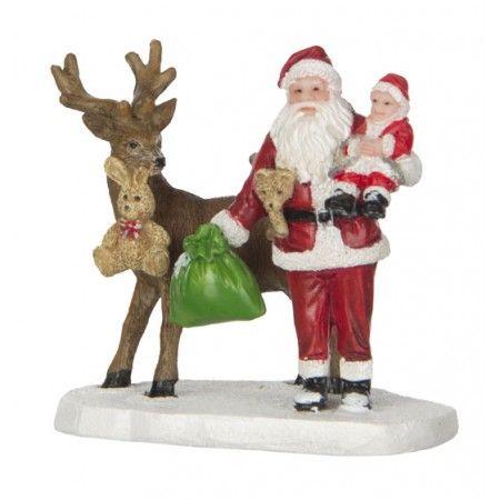Luville Santa with baby, de kerstman met baby en rendier. Koop nu bij Felina World!