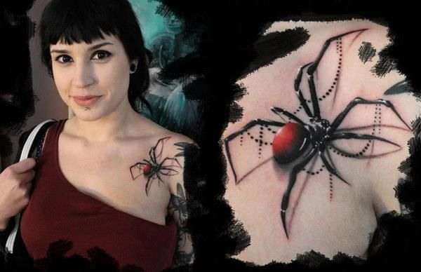 I've been itching for a spider tattoo... Realistic 3D spider tattoo on chest: I'm not a fan of spiders, but this does look BITCHIN!!