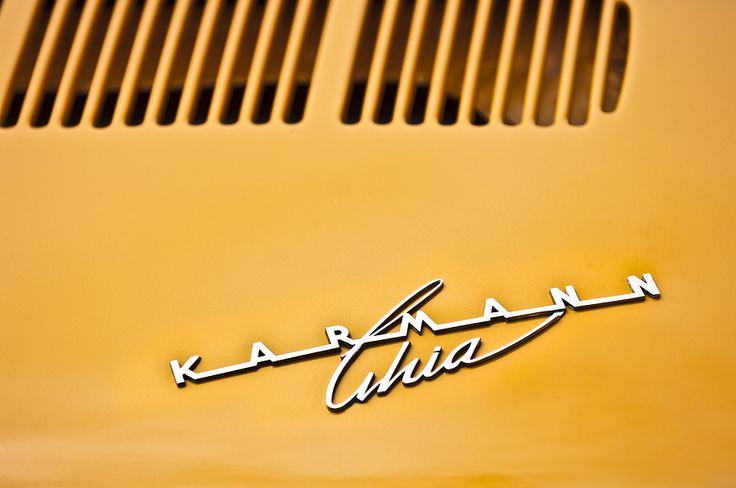 1973 Volkswagen Karmann Ghia Convertible Emblem Photograph by Jill Reger