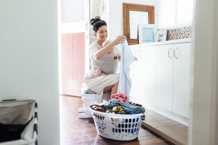 Chekoh Baby Carriers, Grey Stripe Wrap