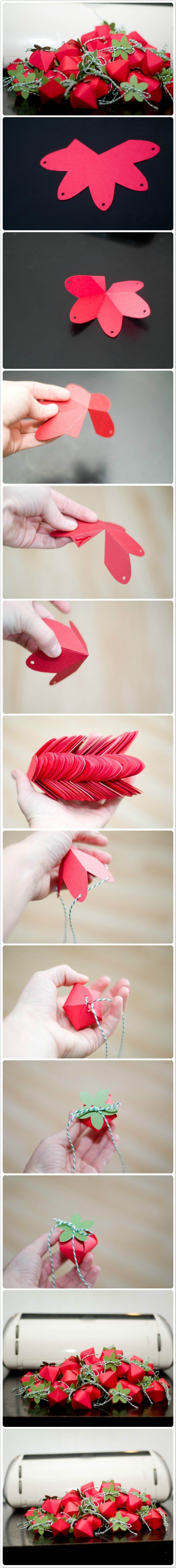 Paper Strawberry Box DIY