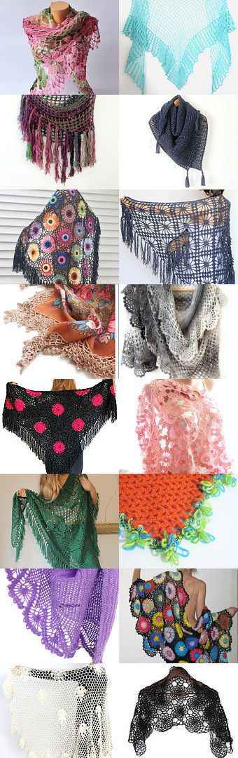 maRRose - CCC: Treasury Tuesday, Crochet Shawls by Marianne Dekkers-Roos on Etsy--Pinned+with+TreasuryPin.com