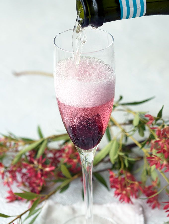 Champagne Cocktail With Hibiscus Flower Champagne Cocktail Champagne Recipes Cocktails Cocktail Recipes