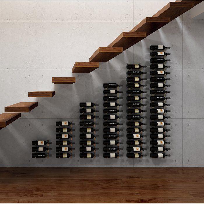 Vintageview Wall Series Modular Under The Stairs 63 Bottle Wall Mounted Wine Rack Wayfair Bottle Wall Wall Mounted Wine Rack Wine Bottle Rack