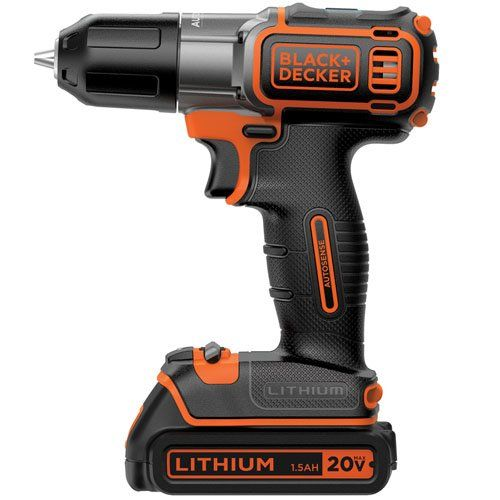 BLACK+DECKER BDCDE120C 20V MAX Lithium-Ion Drill/Driver with Autosense Technology