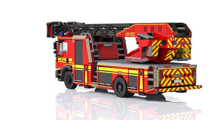 LEGO MAN TGM/ Metz L32 ladder - Drehleiter DLA (K) 23/12 | von Niklas-B