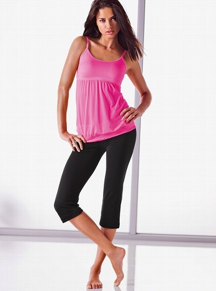 Balance, flexibility, style. Hold a sexy pose in the Pointelle Yoga Tank from VSX Sexy Sport.