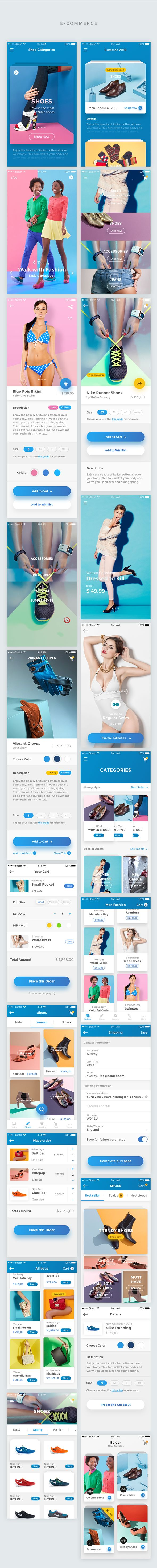Bolder – Multipurpose Mobile UI KIT for Sketch on