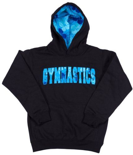 Girls Sweatshirt Gymnastics Hawaiian Style Black « Clothing Impulse