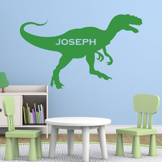 Personalised T Rex Dinosaur Wall Sticker Decal PE010 By Mirrorin Part 42