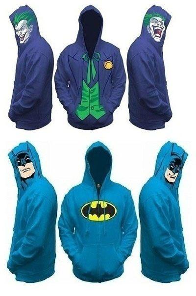 neat batman/joker hoodies