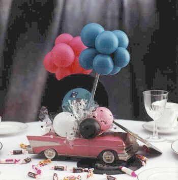Cadillac centerpiece rock 39 n 39 roll pinterest photos us and centerpieces - Rock n roll dekoration ...