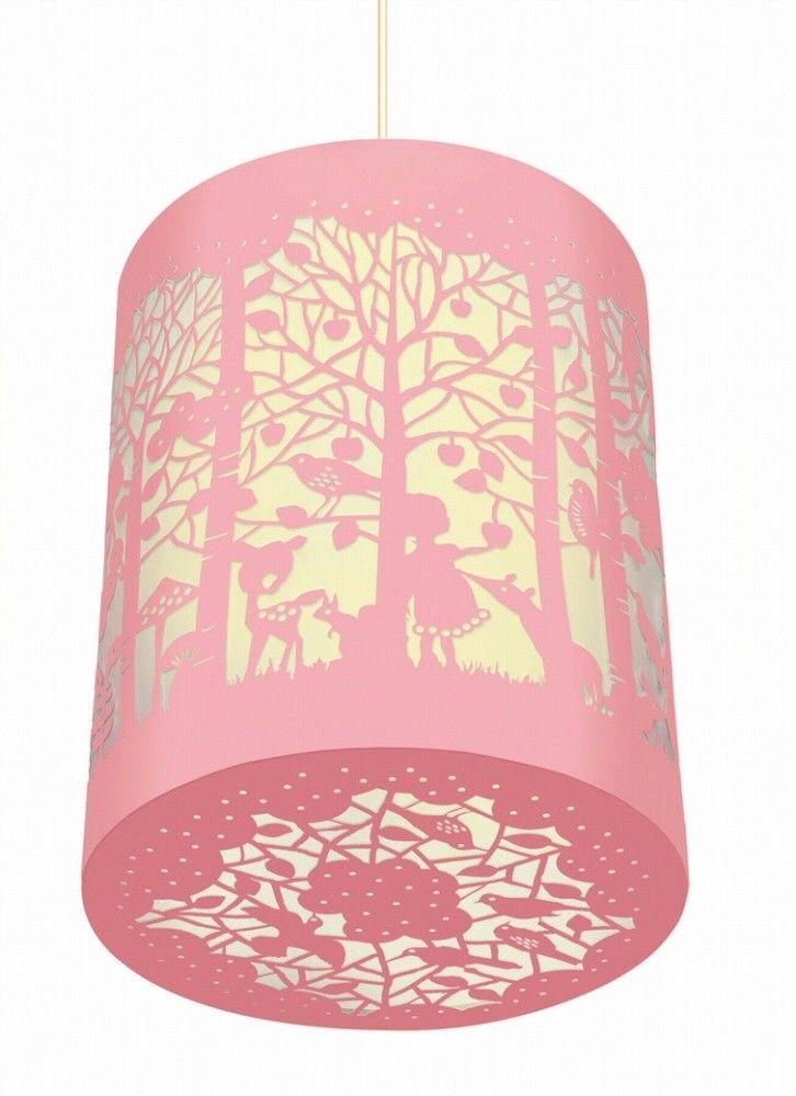 www.psikhouvanjou.nl DJECO papierknipkunst lamp in het bos. Een prachtig kunstwerkje met vogels, paddenstoelen, bambi's en een meisje. De lamp is zowel overdag als 's avonds decoratief, de handleiding voor montage is toegevoegd, de lamp wordt als een plat pakketje geleverd.<br />De lamp is 25 cm hoog en heeft een doorsnede van 20.5 cm.<br />Maximaal 30 W. </p>