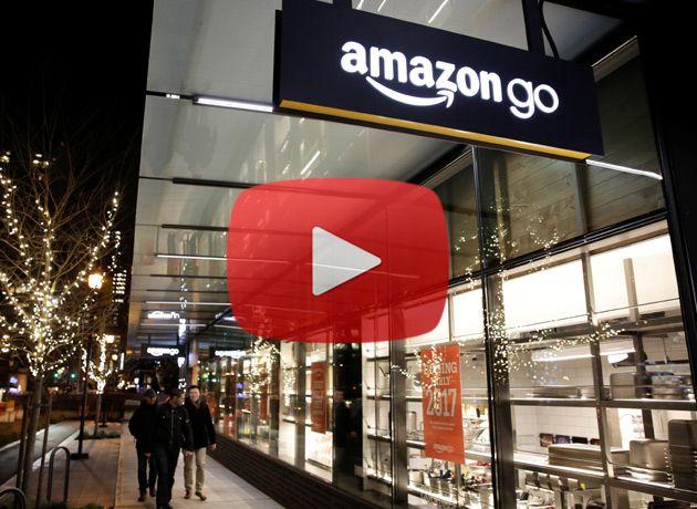 """Video: cómo serán los """"supermercados inteligentes"""" y sin cajeros de Amazon"""