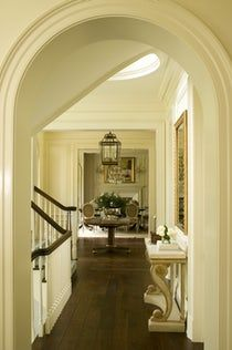Colonial Residence, Greenwich Foyer Staircase Dining Architectural Detail Design Detail TraditionalNeoclassical by Harrison Design