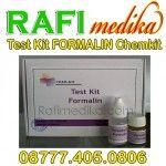 Test Kit Formalin (ChemKits)  Test Kit Formalin (ChemKits) berfungsi untuk mendeteksi adanya pengawet Formalin dalam makanan, kami rafimedika.com menyediakan Test Kit Formalin (ChemKits) dengan harga yang kompetitif dan kualitas terjamin mutunya. untuk pemesanan silahkan hubungi 087774050806