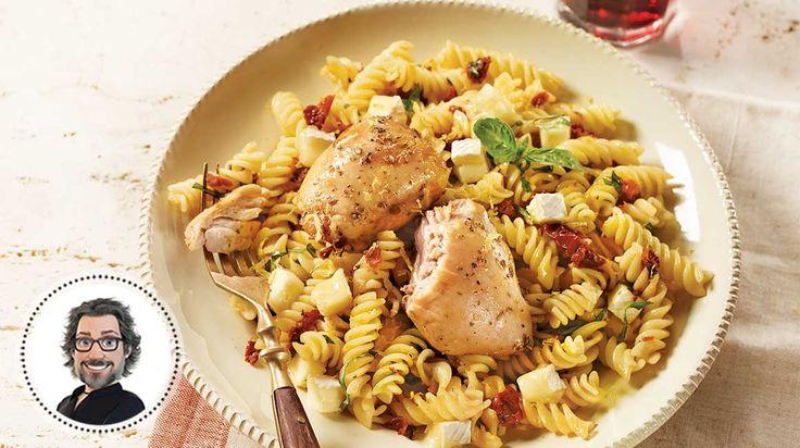 Pâtes au poulet express à l'italienne de Christian Bégin