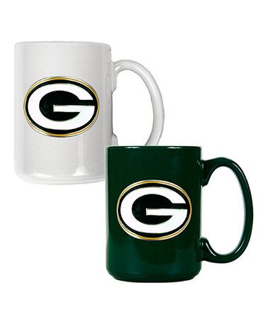 Another great find on #zulily! Green Bay Packers Coffee Mug Set #zulilyfinds