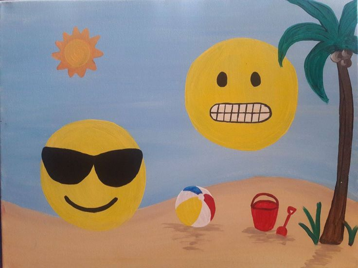 Best 20 sun emoji ideas on pinterest summer art summer for Paint and sip cleveland