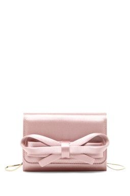 Valentino Small Satin Bow Clutch