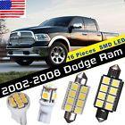 16PCS LED White Lights Interior Map License Package Kit For 2002-2008 Dodge Ram