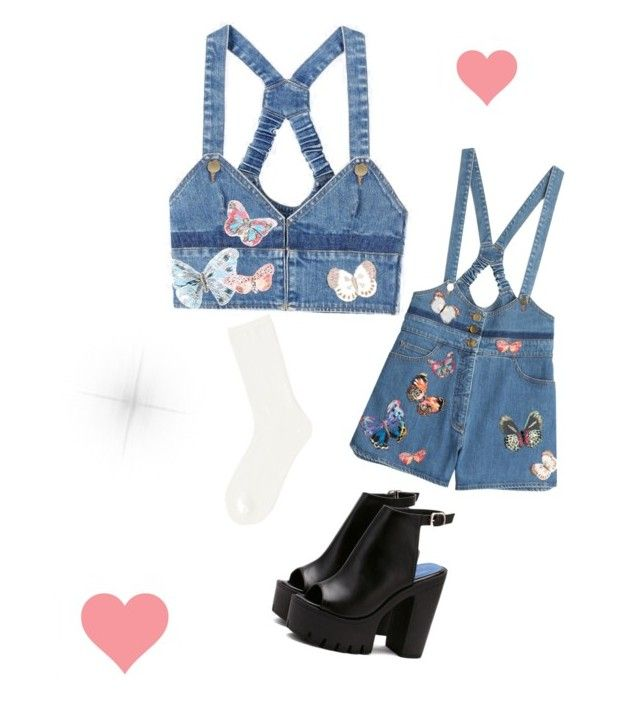 """""""denim"""" by avakitchen on Polyvore featuring Valentino and Uniqlo"""
