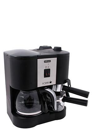 """Stainless steel modena 3 in 1 coffee solution, perfect for making filter coffee, cappuccino and espresso.<div class=""""pdpDescContent""""><ul><li> Milk frothier</li><li> Keep warm function</li><li> 12 cup capacity</li><li> Water level indicator</li><li> Anti-drip valve</li><li> Generates 4.5 bars pressure</li><li> 2year warranty</li></ul></div><div class=""""pdpDescContent""""></div>"""