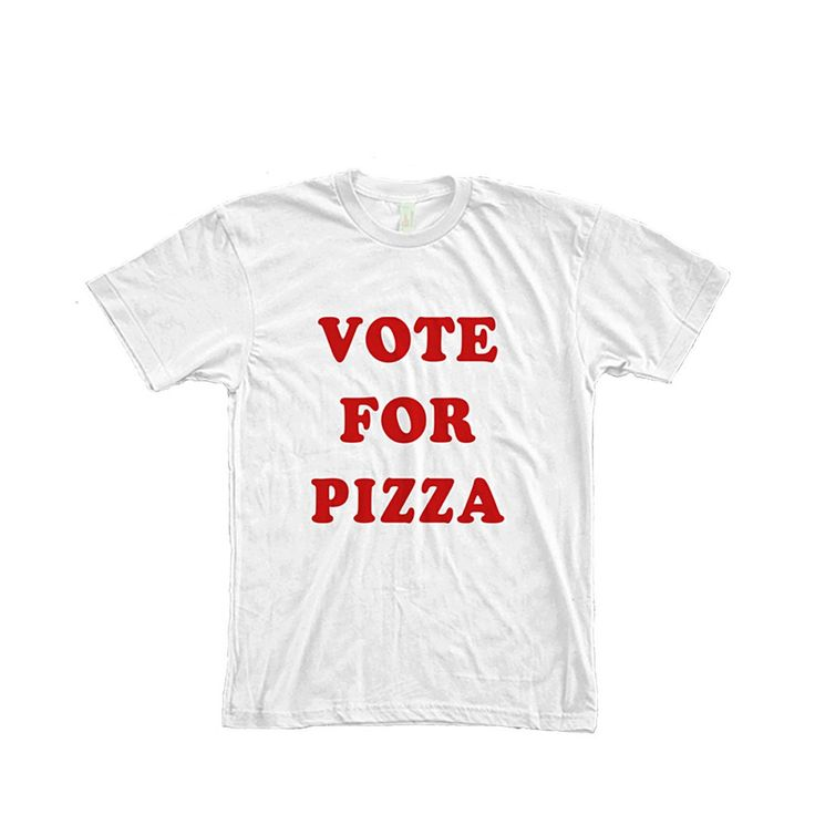 Vote For Pizza Pedro Typography Women's T-Shirt by AvaWilde Made In: United States Shipped From: United States Processing Time: 3 - 4 days