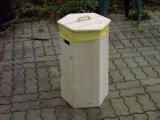 Gelber Sack Ständer 60 l mit Deckel aus Holz natur unbehandelt Mülltrennung
