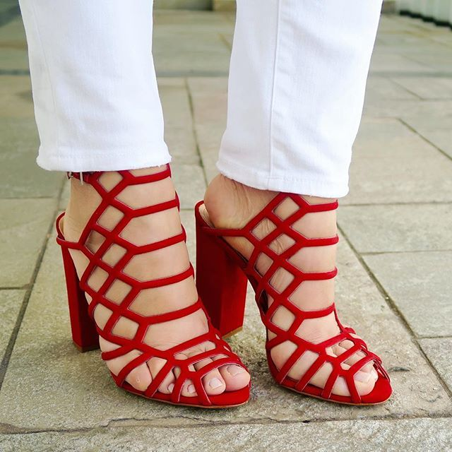 By Priscila Miguel -  Shoes Sandálias  vermelhas Schutz