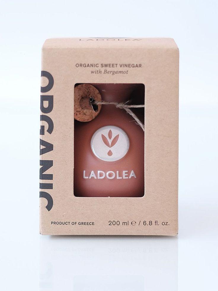 LADOLEA Organic Sweet Vinegar with Bergamot - Agiorgitiko Variety (brown pot) 200ml