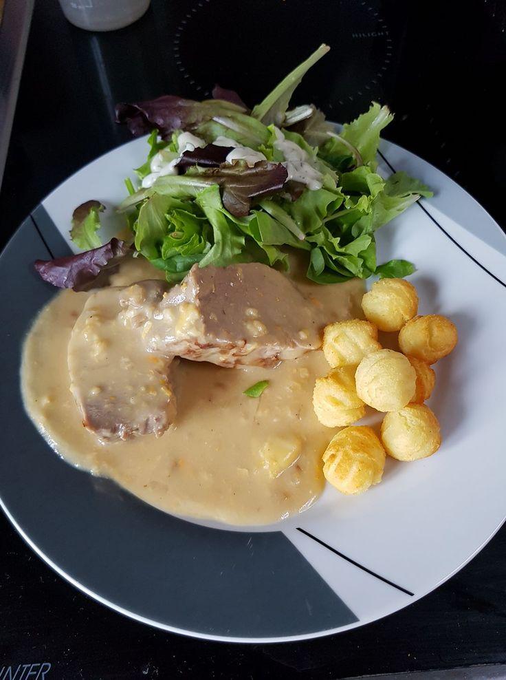 Filet mignon de porc sauce au maroille | Recettes Cookéo